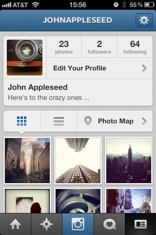Instagram新プロフィール