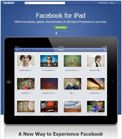 facebook ipadアプリ