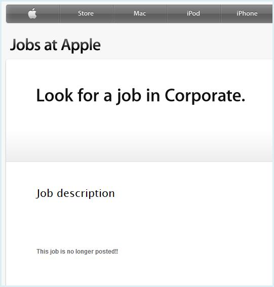 アップル求人ページ
