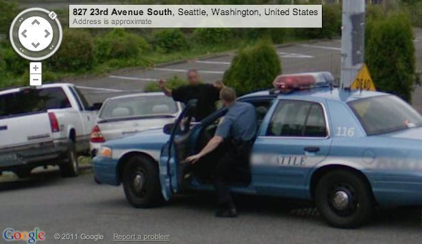 逮捕の瞬間