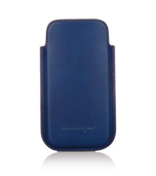 iPhone5s ケース フェラガモ 青