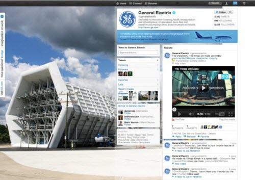 GEのツイッターブランドページ
