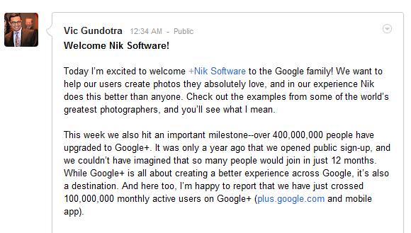Google+ユーザー数