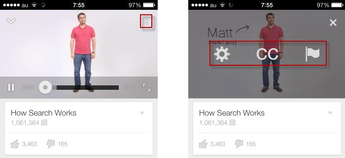 youtubeオプション表示