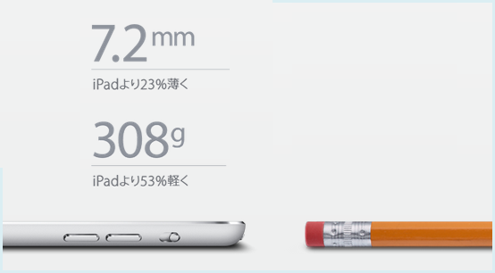 iPad mini薄さ
