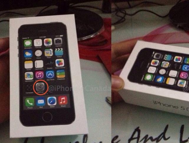 流出したiPhone5Sの箱