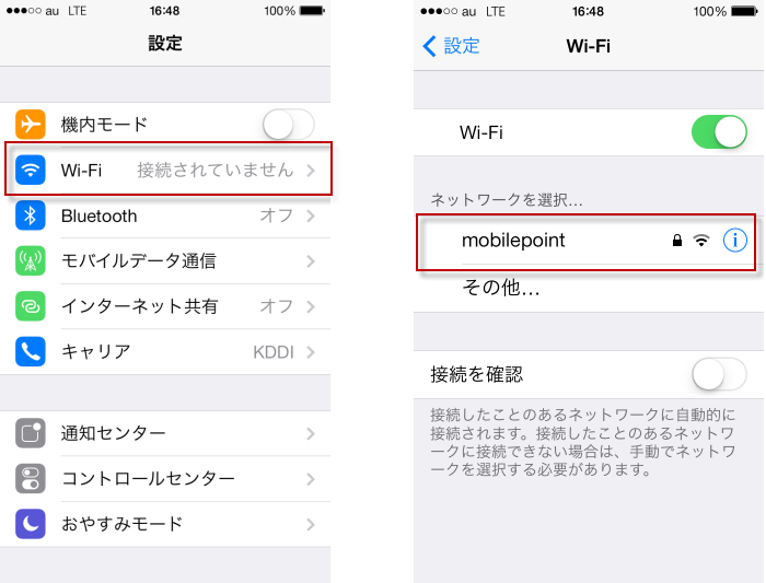 iPod touch接続