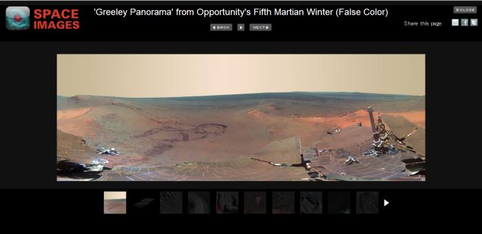 火星の写真スライド