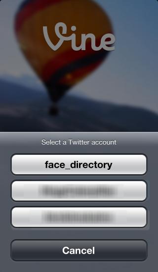 Twitterアカウントを選択